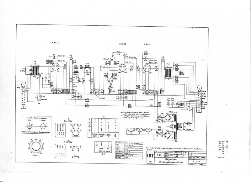 pair telefunken tube amp v87 for tape machine m10a or modifcation as v83  emt133