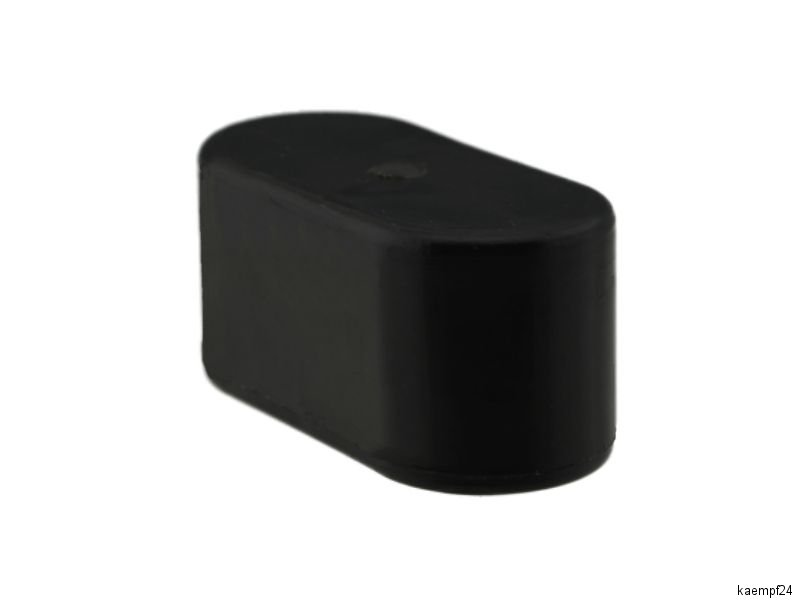 4 x fusskappen 48 x 20mm schwarz stuhlkappen schutzkappen rohrkappen kappen ebay. Black Bedroom Furniture Sets. Home Design Ideas