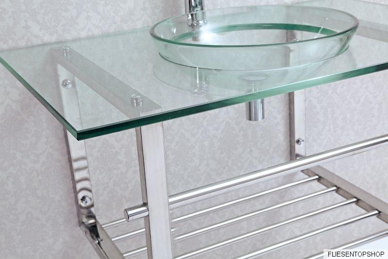 waschtisch regal ablage glaswaschbecken wt7024 glastisch chrom waschbecken bad. Black Bedroom Furniture Sets. Home Design Ideas