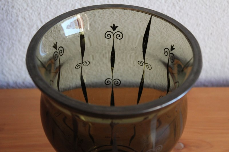 antike art deco vase mit feiner malerei ebay. Black Bedroom Furniture Sets. Home Design Ideas