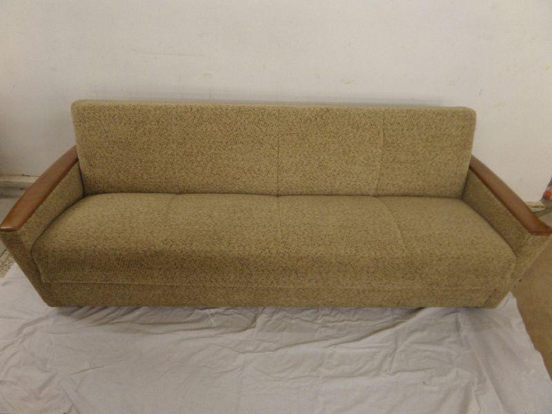 Sofa schlafsofa couch daybed lounge 60er jahre beige for Schlafsofa 60er jahre