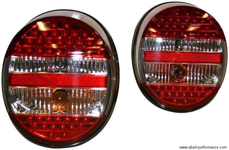 led leuchten r ckleuchten heckleuchten r cklicht rot klar set vw k fer t 1 1303 ebay. Black Bedroom Furniture Sets. Home Design Ideas