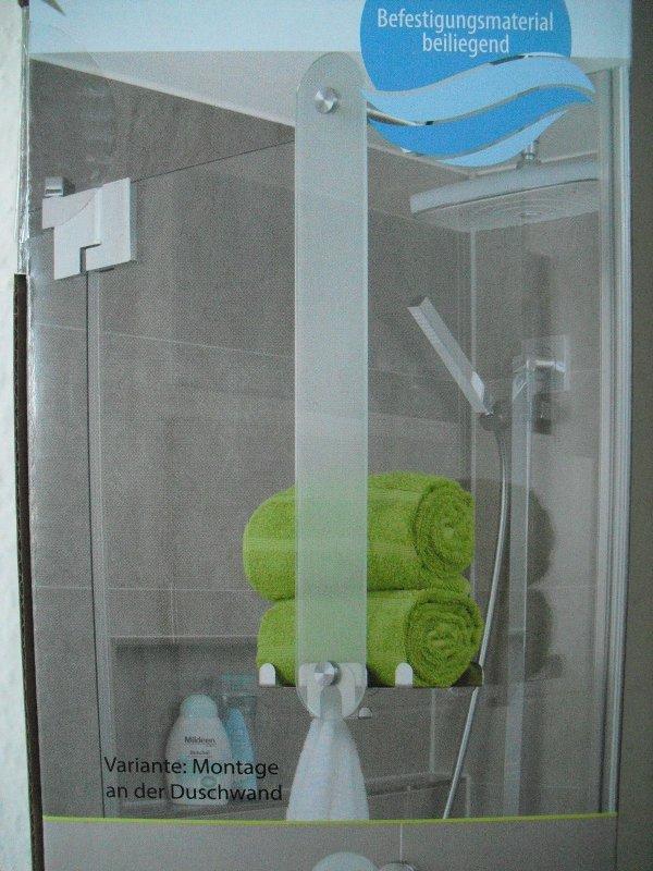 Ablage Dusche Glas : Design Handtuchhalter aus Glas mit Ablage / Bad / Dusche / 810224B