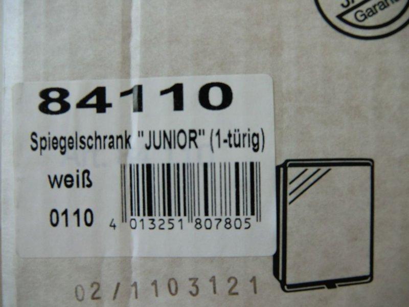 jokey spiegelschrank junior wei 1 t rig spiegel badschrank bad 84110 ebay. Black Bedroom Furniture Sets. Home Design Ideas