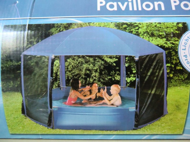 wehncke pavillon pool blau 260 cm schwimmbecken garten gartenpool 12816 ebay. Black Bedroom Furniture Sets. Home Design Ideas