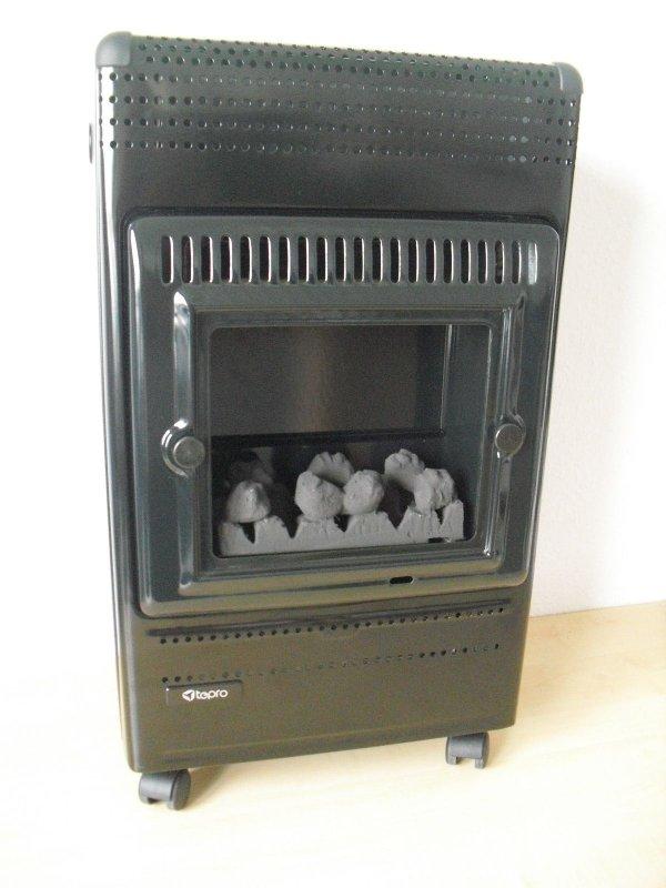 gasheizer katalytofen ofen tepro blue flame kaminoptik. Black Bedroom Furniture Sets. Home Design Ideas