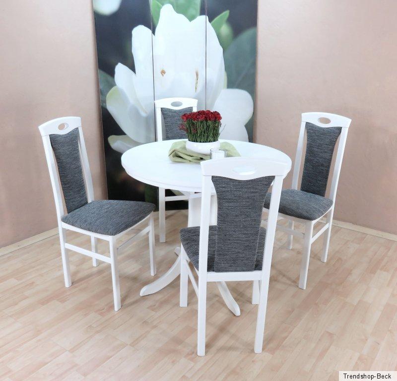 essgruppe 5 tlg auszugtisch esstisch tisch rund st hle. Black Bedroom Furniture Sets. Home Design Ideas