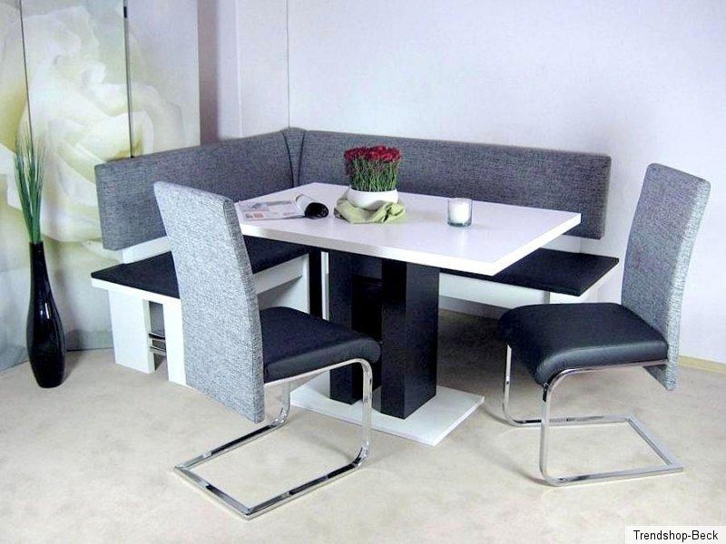 eckbankgruppe 4 tlg eckbank essgruppe st hle stuhl tisch. Black Bedroom Furniture Sets. Home Design Ideas