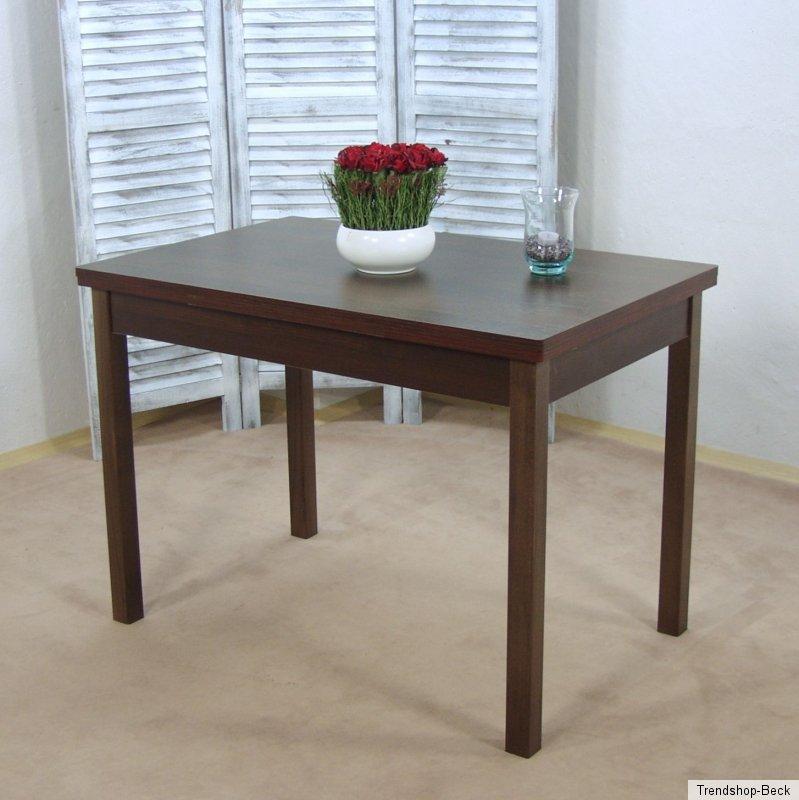esszimmertisch ausziehbar esstisch k chentisch tisch farbe nussbaum dunkel ebay. Black Bedroom Furniture Sets. Home Design Ideas