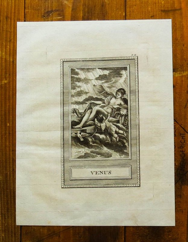 1793 antike mythologie venus aphrodite original kupferstich leizelt ebay. Black Bedroom Furniture Sets. Home Design Ideas