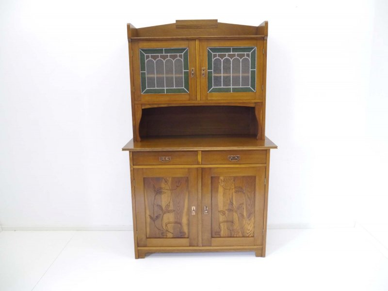jugendstil buffet b cherschrank k che vitrine schrank um 1900 ebay. Black Bedroom Furniture Sets. Home Design Ideas