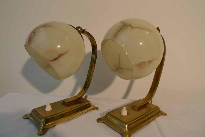 2 art deco lamps bauhuas art nouveau style bedside lamps for Jugendstil lampen