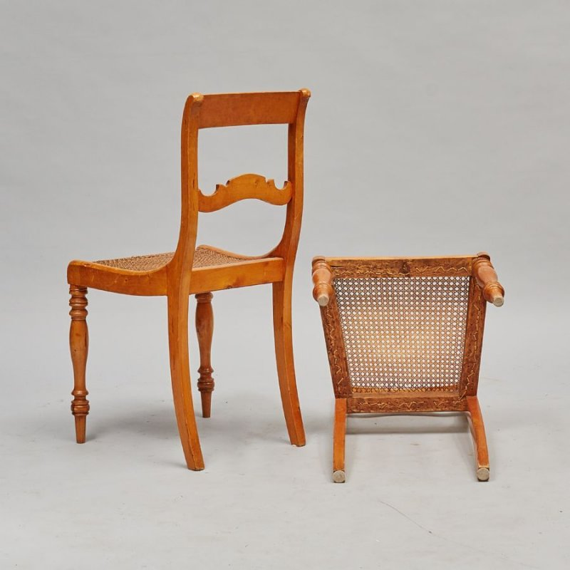 8 biedermeier st hle birke massiv um 1820 ebay. Black Bedroom Furniture Sets. Home Design Ideas
