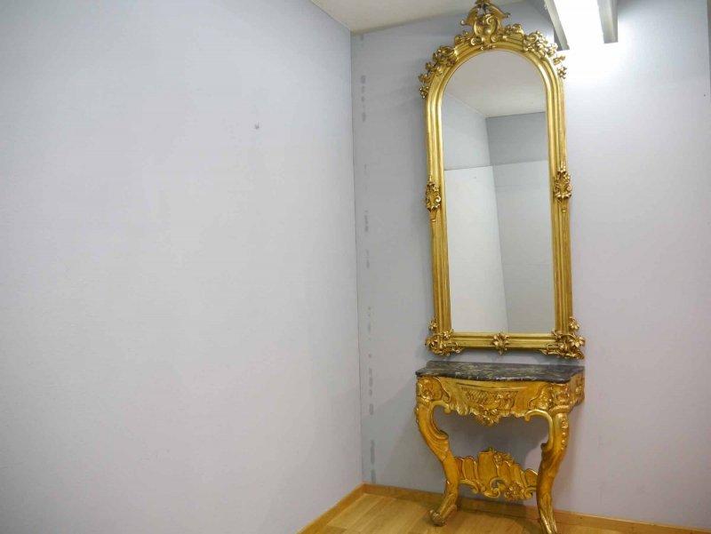 rokoko spiegel mit konsole barock neo barock original um 1850 ebay. Black Bedroom Furniture Sets. Home Design Ideas