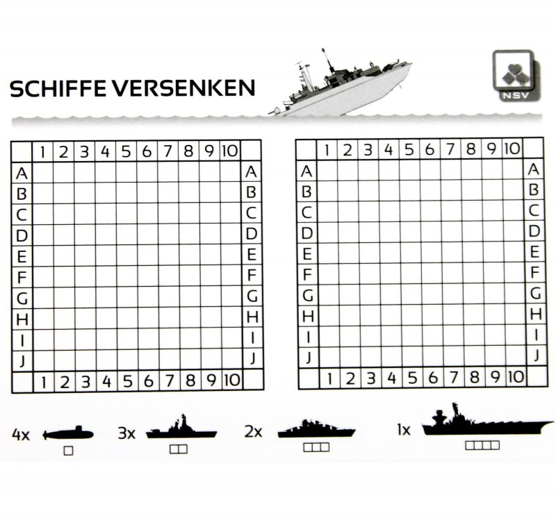 Schiffe Versenken Vorlage Pdf