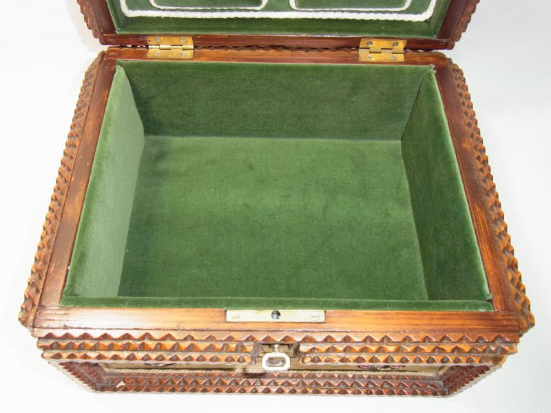 alte jugendstil holzbox holzkiste schmuckschatulle mit spiegel ebay. Black Bedroom Furniture Sets. Home Design Ideas