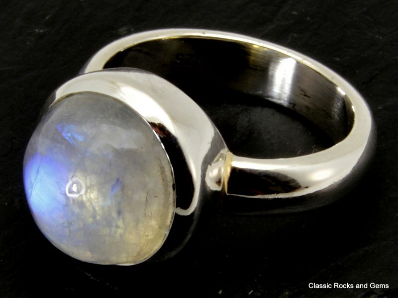 Handmade Iron Labradorite Ring