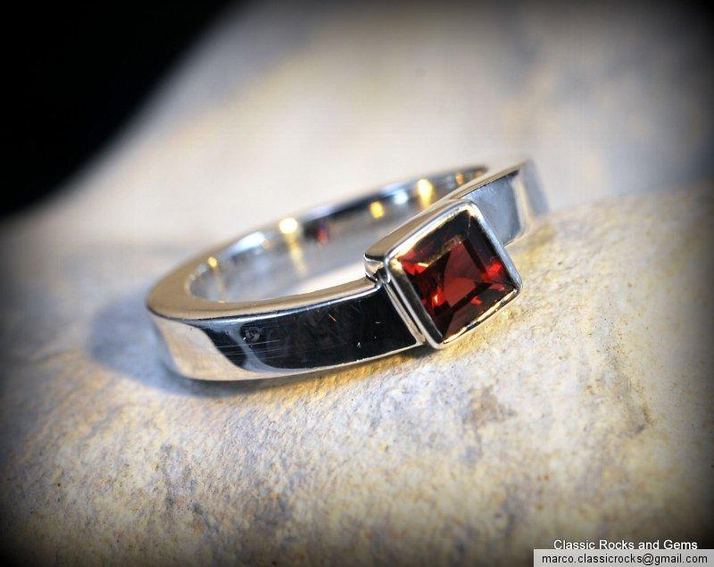 925 silver garnet ring 925 er granat edelstein ring gr 15. Black Bedroom Furniture Sets. Home Design Ideas