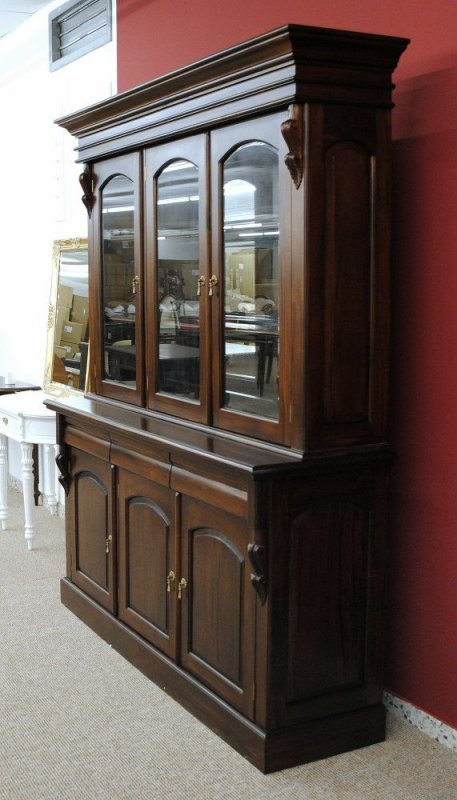 buffet schrank mahagoni massiv victorianischer stil ebay. Black Bedroom Furniture Sets. Home Design Ideas