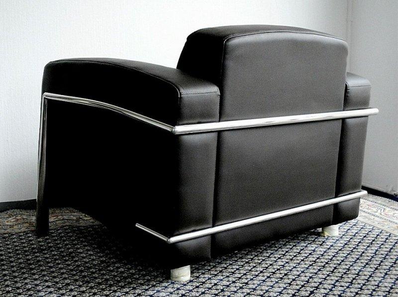 leder sessel designer sessel lounge office verona leather schwarz oder braun ebay. Black Bedroom Furniture Sets. Home Design Ideas