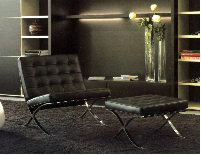 relax sessel mit fussteil ottoman design klassiker couch. Black Bedroom Furniture Sets. Home Design Ideas