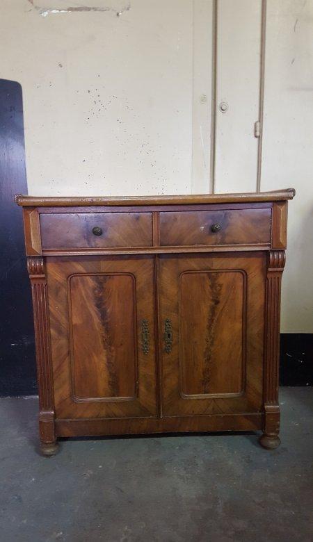 alte kommode holz antik wurzelholz schubladen t ren kaffeebar ebay. Black Bedroom Furniture Sets. Home Design Ideas