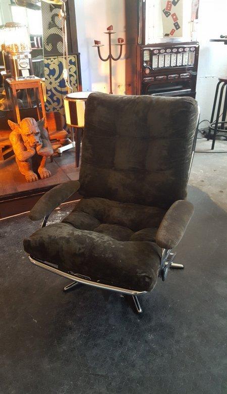 seesel lounge liegesessel drehsessel 70er jahre chromgestell ebay. Black Bedroom Furniture Sets. Home Design Ideas