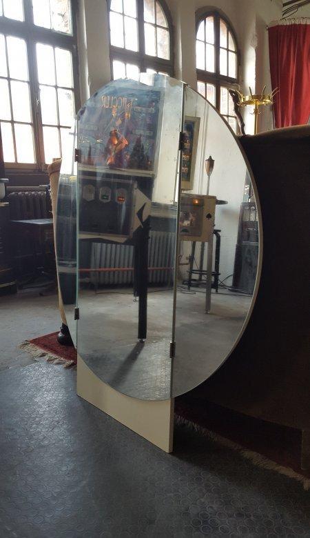 Spiegel original 70er jahre frisierspiegel 3teilig klappbar rund d 98cm ebay - Spiegel 3 teilig klappbar ...