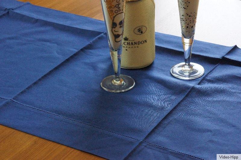 Halbleinen tischdecke dunkelblau 50x140 gastronomie home for Gastronomie deko