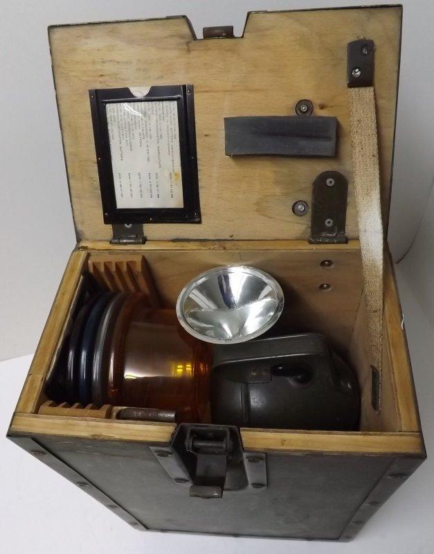 leuchte hand batterie zubeh r koffer 1969 eisemann typ 7. Black Bedroom Furniture Sets. Home Design Ideas