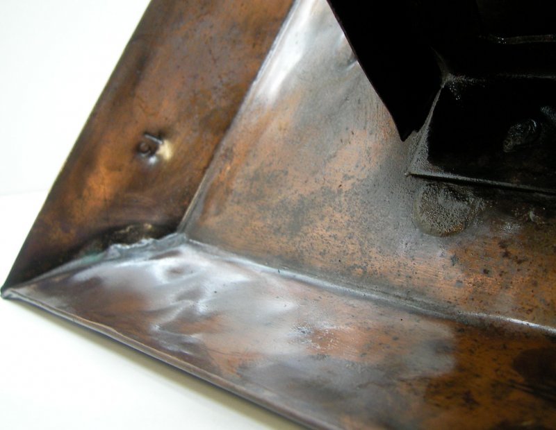 m hlrad kupfer handarbeit wasserspiel wasser anschluss. Black Bedroom Furniture Sets. Home Design Ideas