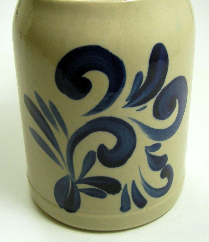 krug steingut keramik kannenb cker land westerwald rustikal muster blau velbert. Black Bedroom Furniture Sets. Home Design Ideas