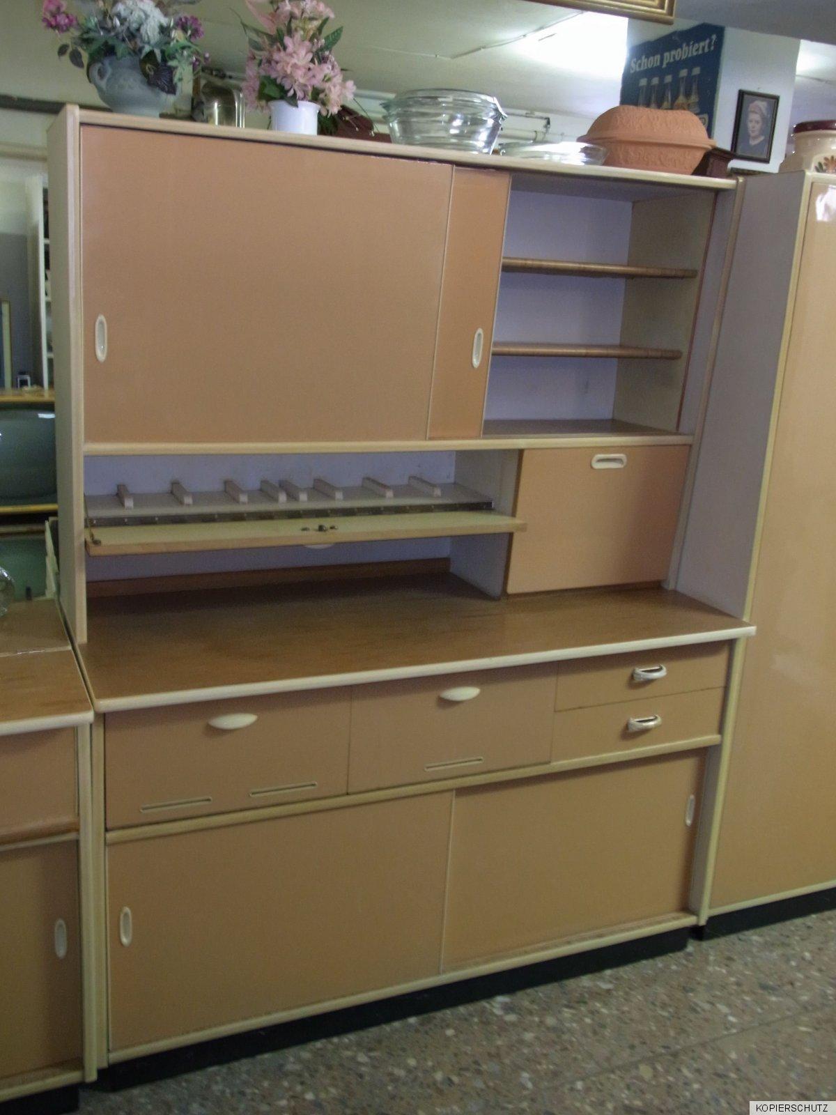 50er jahre k che pastellfarben b ffet wachtisch. Black Bedroom Furniture Sets. Home Design Ideas