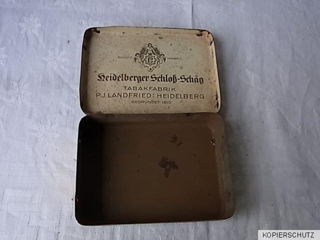 uralte zigarettenblechdose heidelberger schlo p j landfried heidelberg ebay. Black Bedroom Furniture Sets. Home Design Ideas