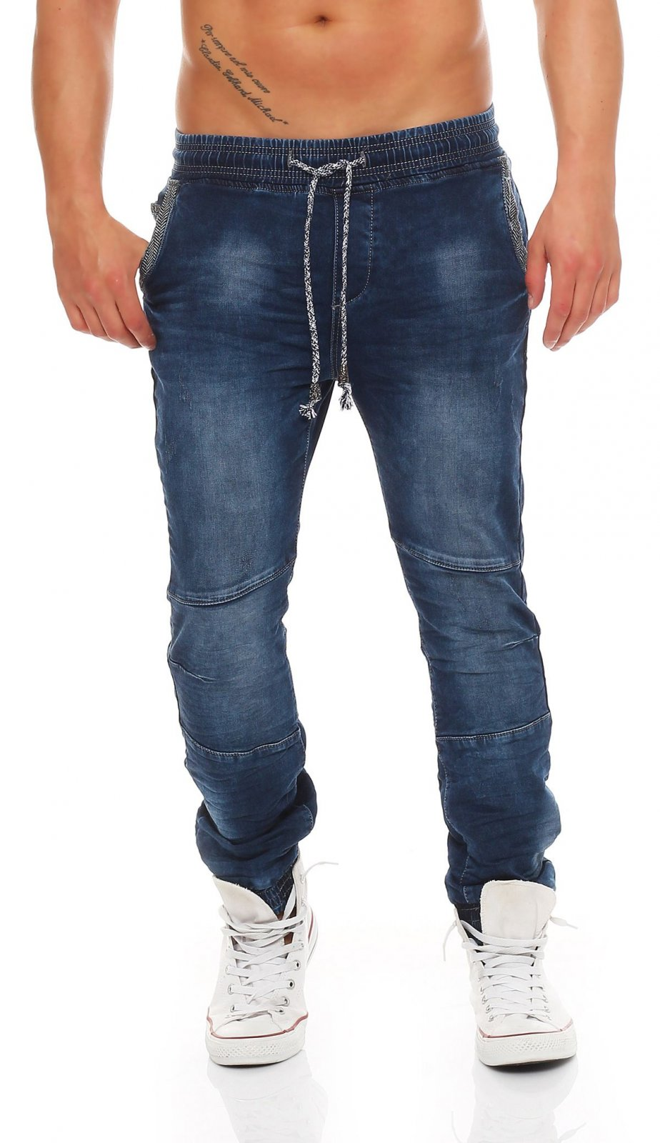Herren - Sweathose Jogginghose Joggjeans Chino Denim
