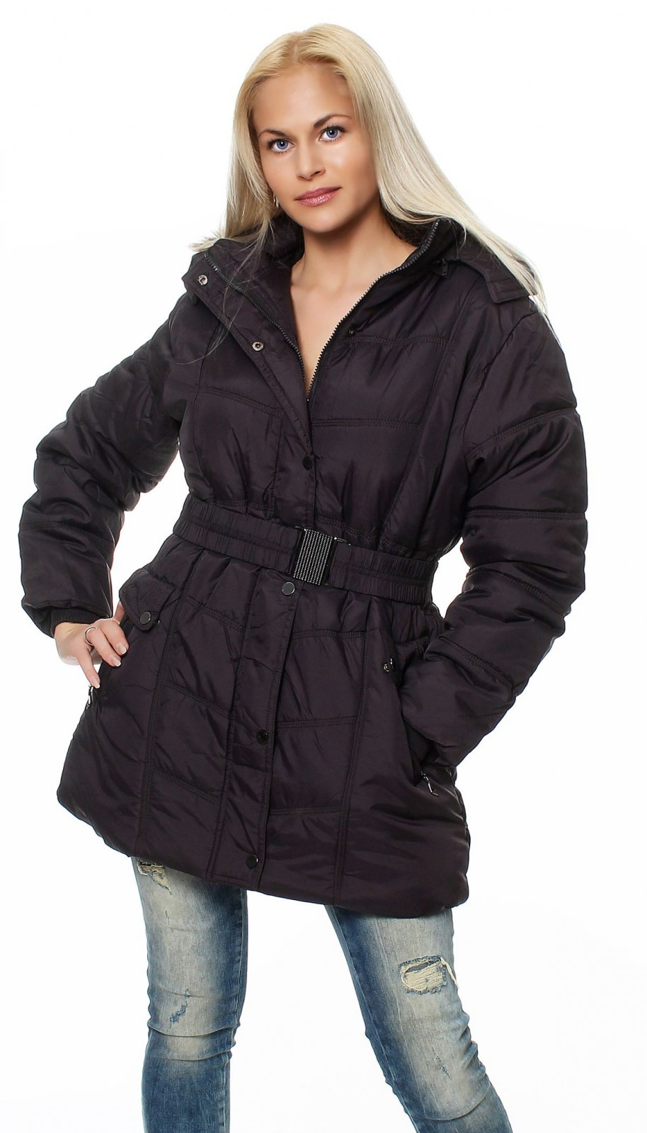 damen jacke parka bergangsjacke winterjacke wintermantel. Black Bedroom Furniture Sets. Home Design Ideas