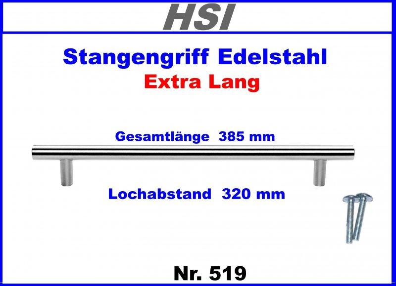 stangengriff extra lang edelstahl lochabstand 320mm nr 519 ebay. Black Bedroom Furniture Sets. Home Design Ideas