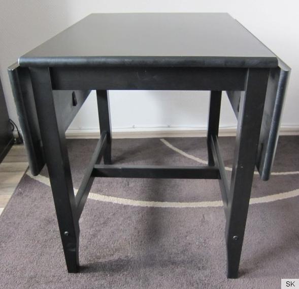 Ikea leksvik klapptisch schwarzbraun esstisch k chentisch for Esstisch schwarzbraun
