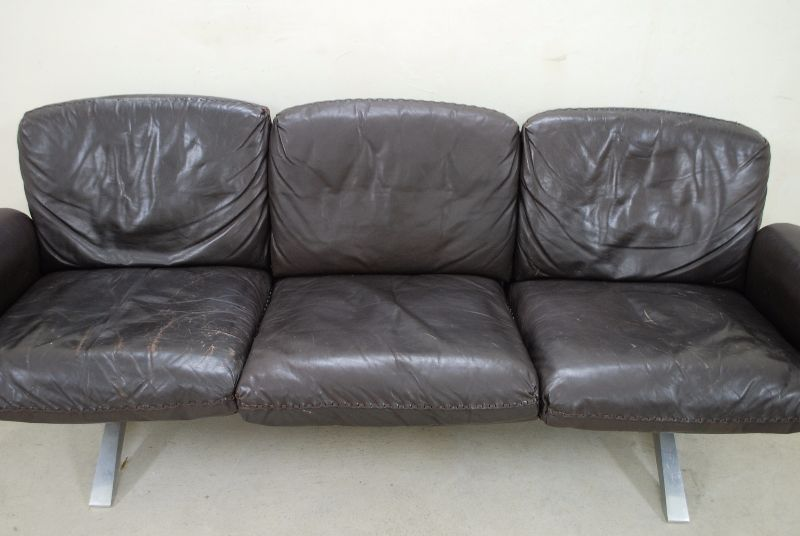 De sede ds 31 vintage ledersofa dunkelbraun sofa james for Sofa 70er stil