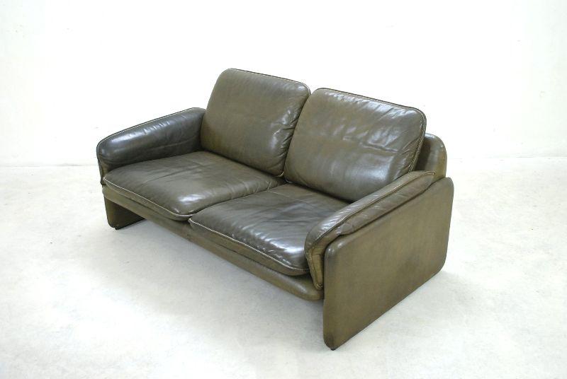 de sede ds 61 sofa 3er 2er vintage ledersofa oliv gr n. Black Bedroom Furniture Sets. Home Design Ideas