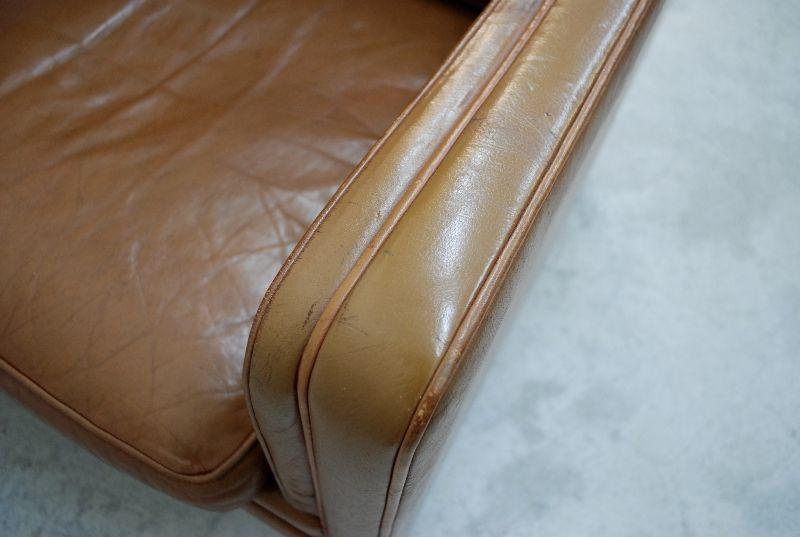 danish modern vintage cognac ledersessel mogensen ra ebay. Black Bedroom Furniture Sets. Home Design Ideas