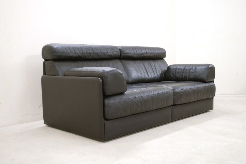 de sede ds 76 77 sofa ledersofa schlafsofa schwarz np eur top ebay. Black Bedroom Furniture Sets. Home Design Ideas