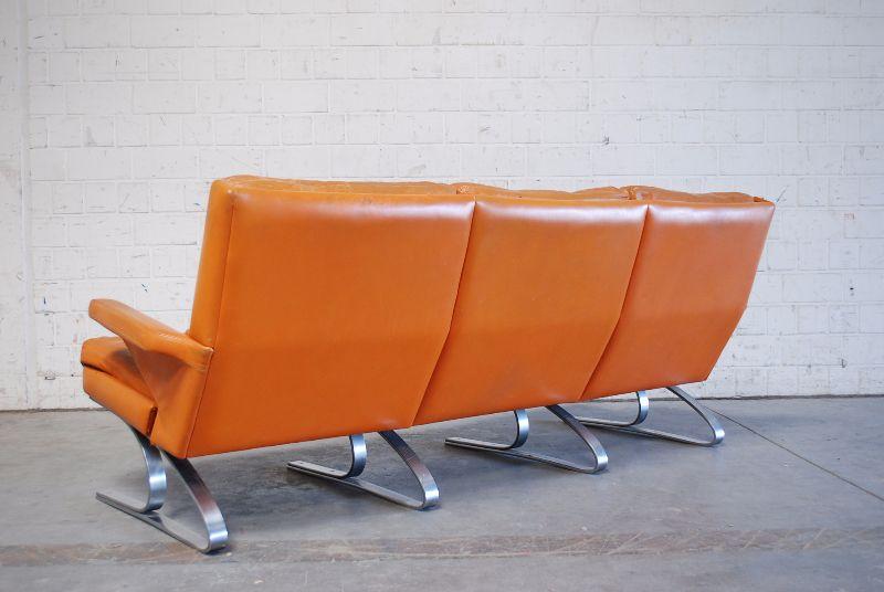 Cor modell swing lounge ledersofa sofa cognac 60er 70er for Sofa 60er gebraucht