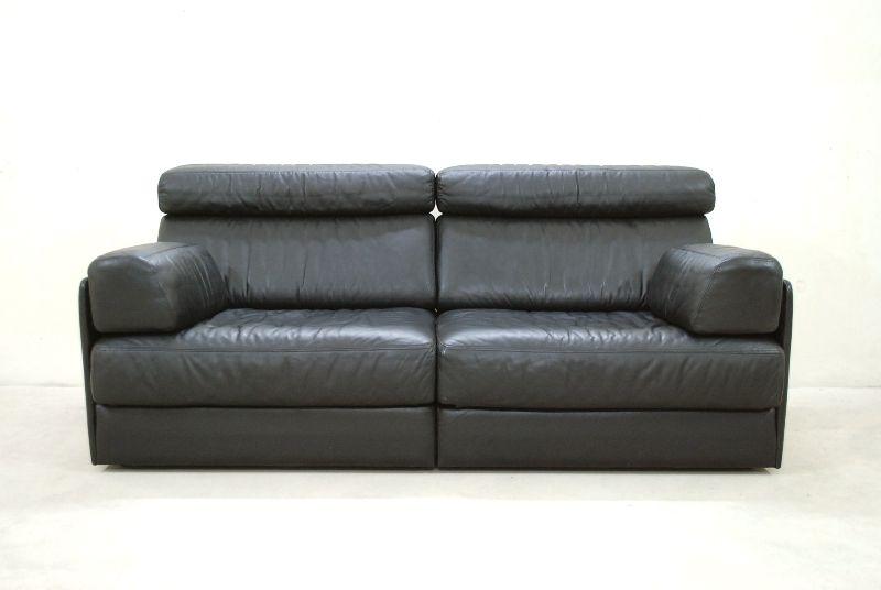 de sede ds 76 77 sofa ledersofa schlafsofa schwarz np eur top ebay. Black Bedroom Furniture Sets. Home Design Ideas