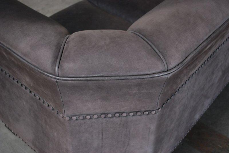 wittmann modell palais stoclet josef hoffmann velvet graphit ledersofa sofa ebay. Black Bedroom Furniture Sets. Home Design Ideas