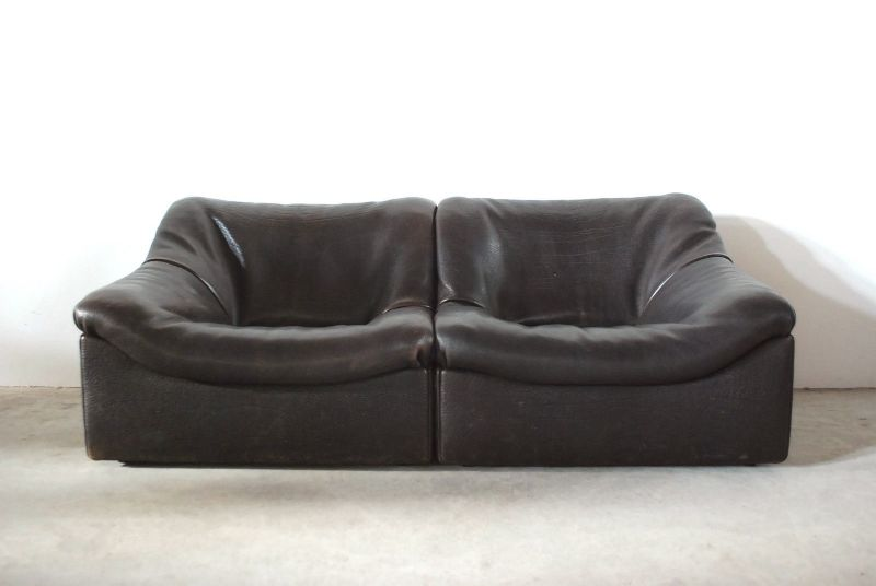 de sede ds 46 vintage neckleder sofa ledersofa ebay. Black Bedroom Furniture Sets. Home Design Ideas