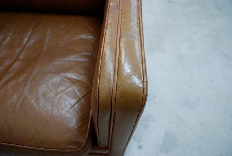 danish modern vintage cognac ledersofa sessel mogensen ra. Black Bedroom Furniture Sets. Home Design Ideas