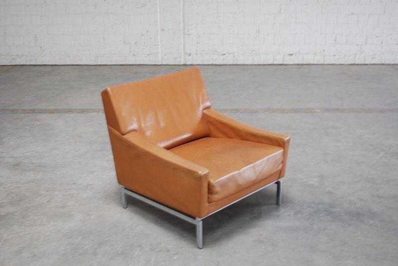 vintage cognac chair ledersessel sessel 60er knoll wk ra ebay. Black Bedroom Furniture Sets. Home Design Ideas