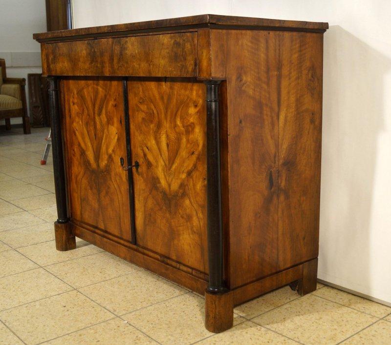 originale biedermeier anrichte mit volls ulen um 1815. Black Bedroom Furniture Sets. Home Design Ideas