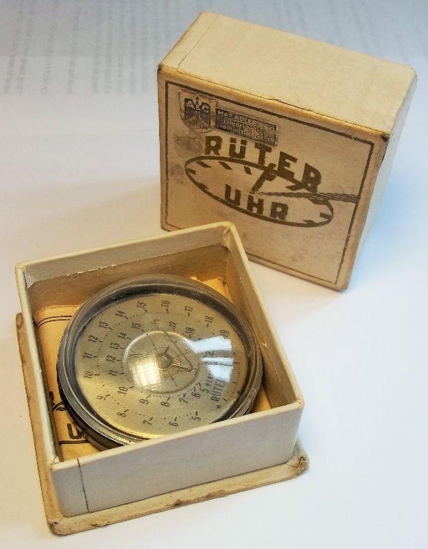 dr r ter sonnenuhr berlin 1946 kompass uhr in ovp antik mit bedienungsanleitung ebay. Black Bedroom Furniture Sets. Home Design Ideas